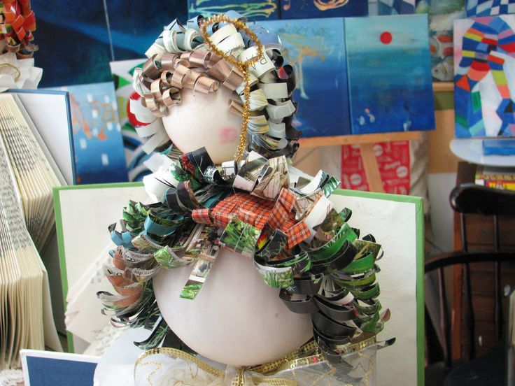 How to make Recycled Book Angels from Library Discard Books Tutorial Par...