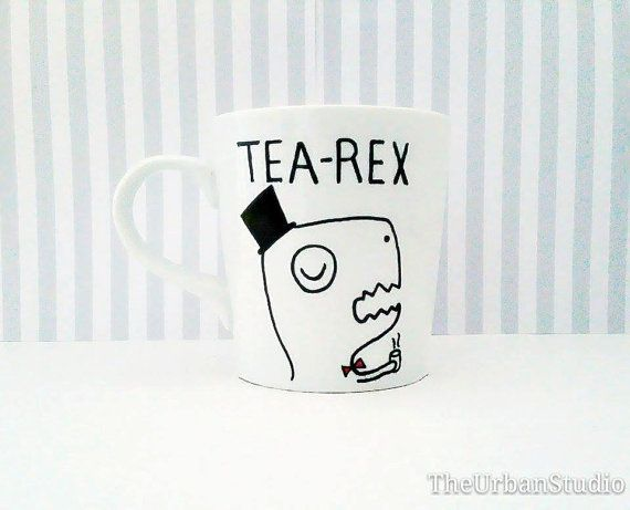 TEA REX Mug Personal / Family / Friend by TheUrbanStudio on Etsy