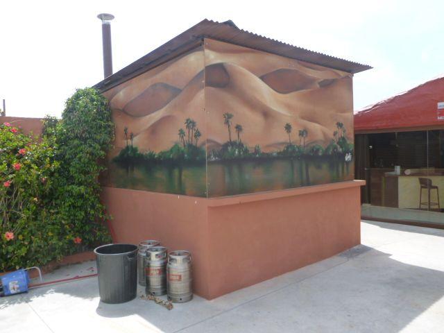 Decoración exterior , chiringuito OASIS (2012)
