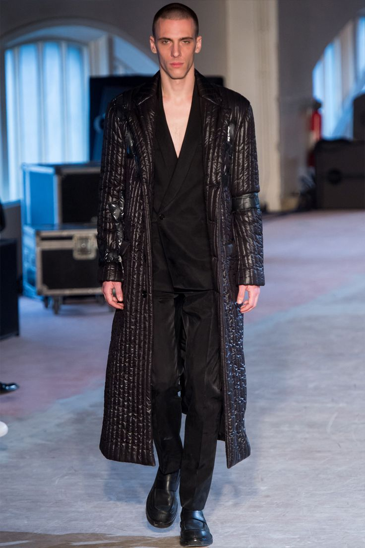 See All The Runway And Model Photos From The Maison Margiela Fall 2016  Menswear Collection.