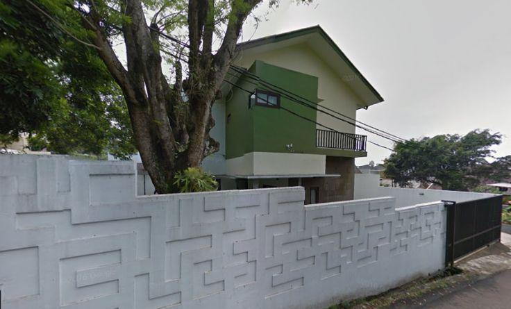 pagar minimalis putih
