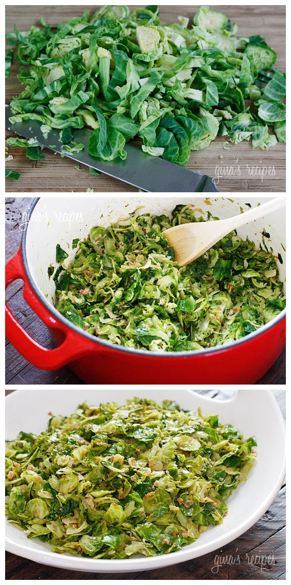 Sauteed Brussels Sprouts with Pancetta