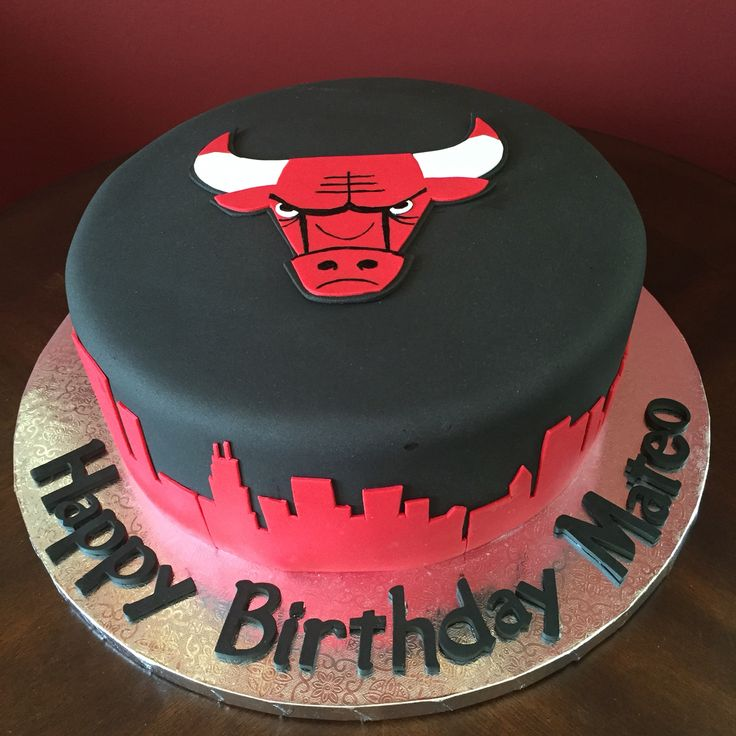 Chicago Bulls Birthday Cake Birthday Cakes Chicago