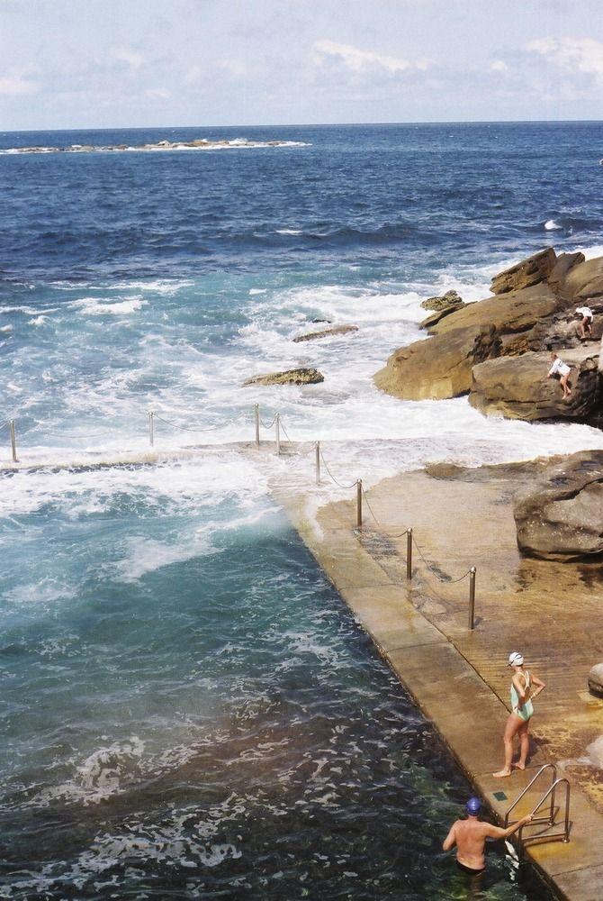 wylies baths, sydney • rock pool Australia