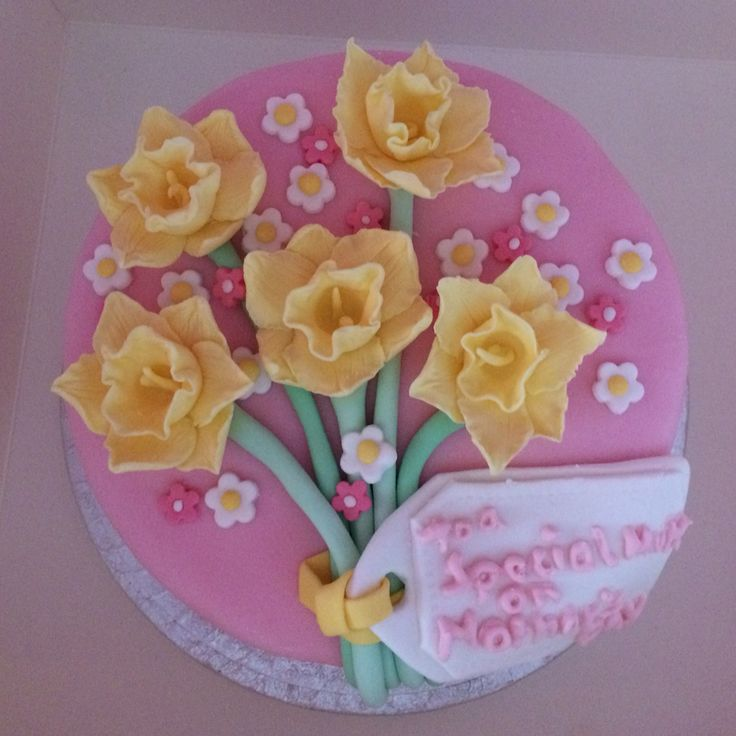 Daffodil Cake (in pink, yellow, white and green). This was for Mother's Day but would be great for any Easter or Spring celebration or event.