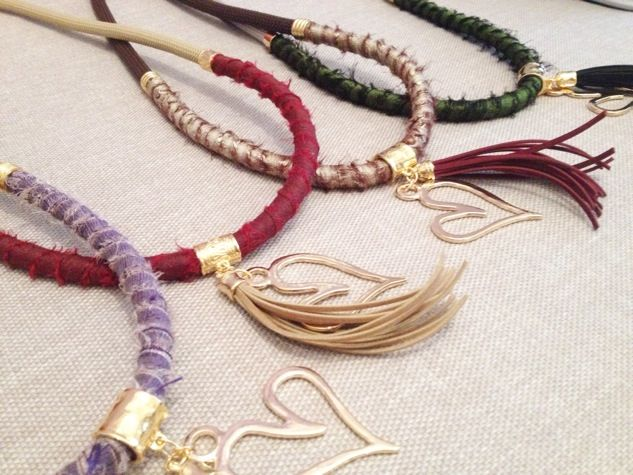 Long cord necklaces with tassels II