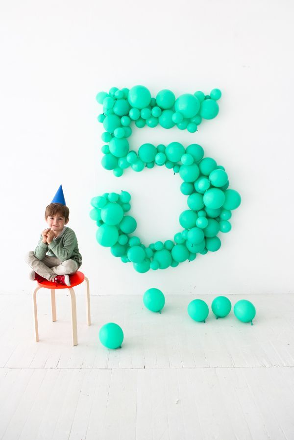 68 best images about balloon numbers letters on for Number 5 decorations