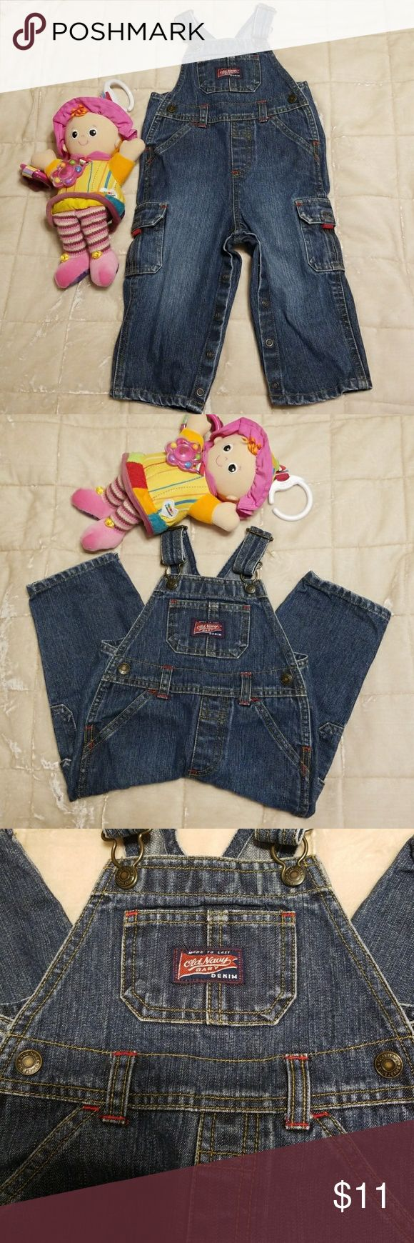 🚼Old Navy Baby Overalls 18-24 months Beautiful in perfect condition well loved  old navy overalls.   ♥️🎉BUNDLE THIS LISTING WITH 4 MORE BABY ITEMS AND GET IT FOR $5 EACH LISTING🎉♥️  ❤EVERY ITEM WITH🚼SYMBOL YOU WILL ONLY PAY $5 WHEN YOU BUNDLE 5 ITEMS OR MORE.❤  Doll is not included😉 Old Navy One Pieces #BabyOveralls