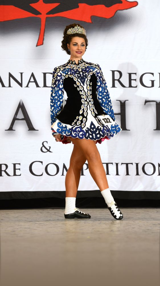 Sublime Blue Jennifer Blackerby Designs Irish Dance Dress Solo Costume For Sale