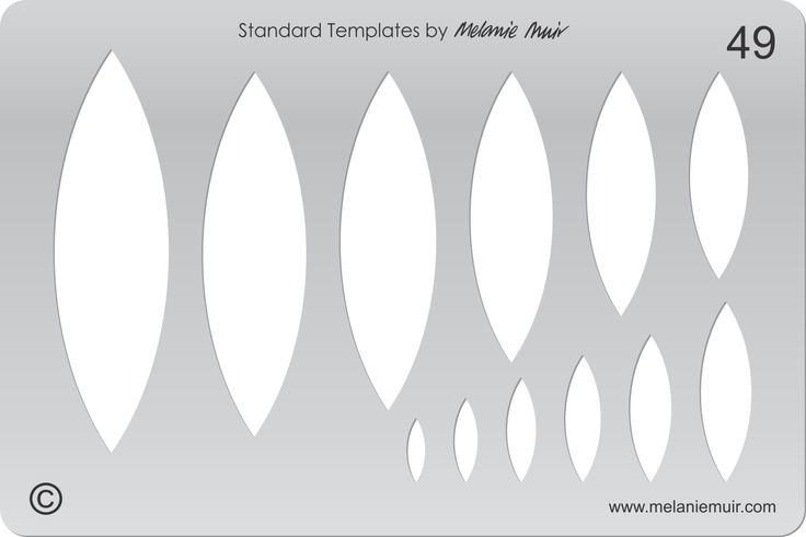 Acrylic template No. 49. Perfect for creating a wide variety of polymer, metal or clay bracelet, necklace, pendant and earring designs.