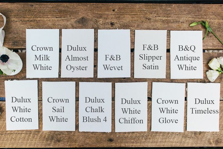 A guide to choosing a warm white, cool white or neutral paint including shades from Dulux, Crown, B&Q and Farrow & Ball