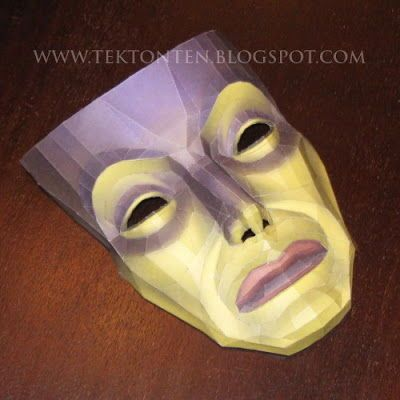 Life Size Snow White Magic Mirror Free Papercraft Template Download - http://www.papercraftsquare.com/life-size-snow-white-magic-mirror-free-papercraft-template-download.html#11, #LifeSize, #Mask, #SnowWhite