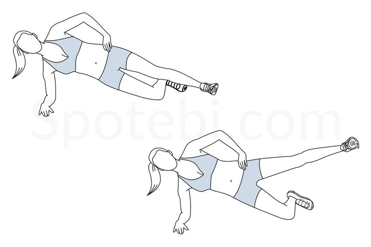 The side plank hip abduction is a great exercise that you can do to target the outer thighs. The outer thigh muscles pull your legs away from the center of the body and play an important role in keeping your knee and hip joints stable. Doing hip abductions not only helps to strengthen and sculpt your outer thighs, but can also improve your balance and stability. http://www.spotebi.com/exercise-guide/side-plank-hip-abduction/