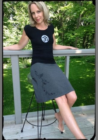 Charcoal Bamboo Skirt with Black Vine http://squeezed.ca/shop/category/skirts