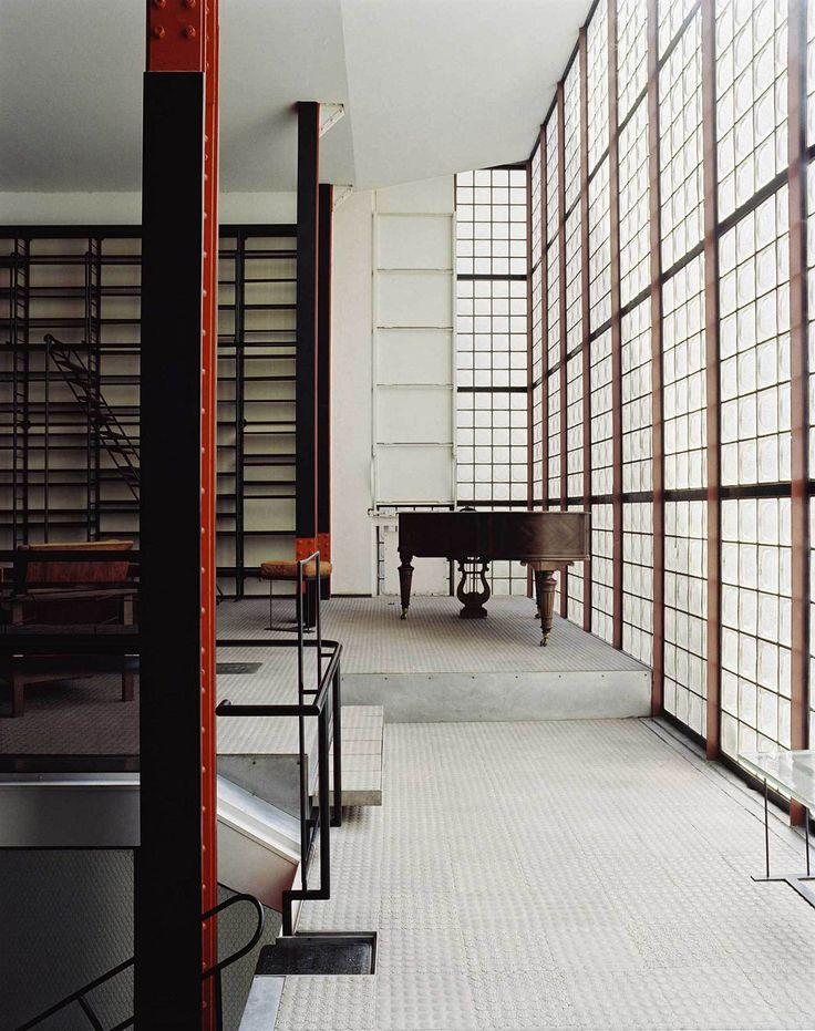 Maison de Verre: An Avant-Garde Glass House in Paris. Photo © Francois Halard via Yellowtrace.