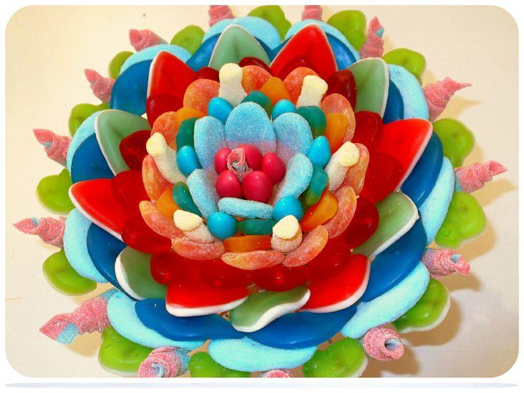 Kleurrijke waterlelie in snoep