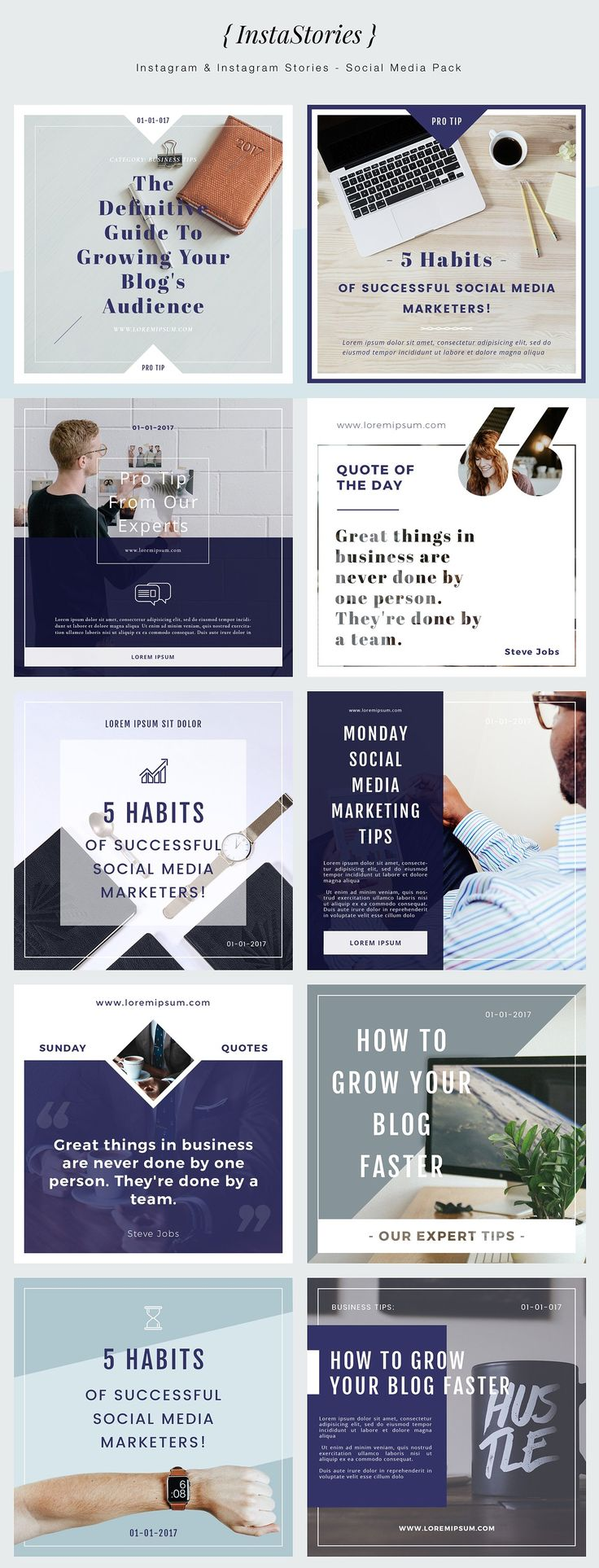 { InstaStories } Social Media Pack by MediaNovak on @creativemarket
