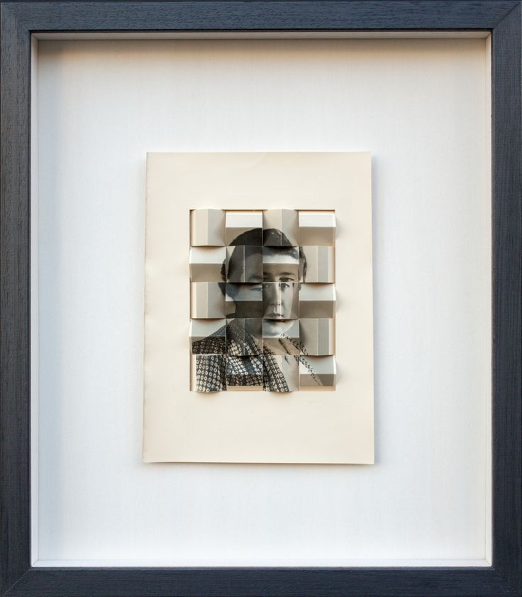 Vincenzo Todaro, Anecoica #4, foto vintage su struttura tridimensionale in legno, 40x35, 2016