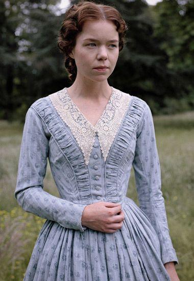Anna Maxwell Martin in Bleak House - 1840's dress. Beautiful.