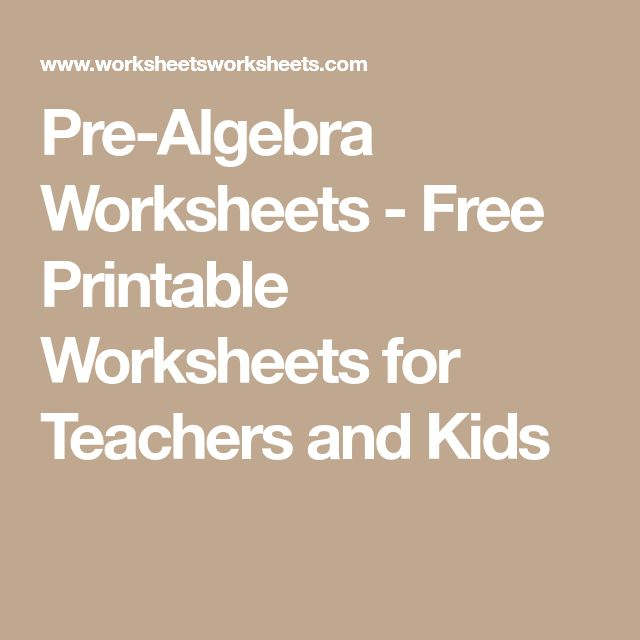 The Best Algebra Worksheets Ideas On Algebra