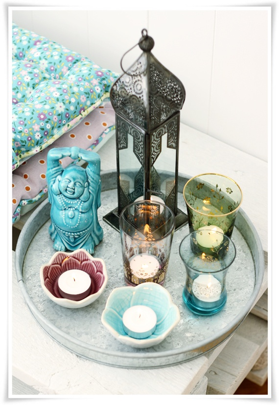 Love the Buddha and maroccan style!