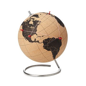Look what I found at UncommonGoods: Cork Globe for $129 #uncommongoods