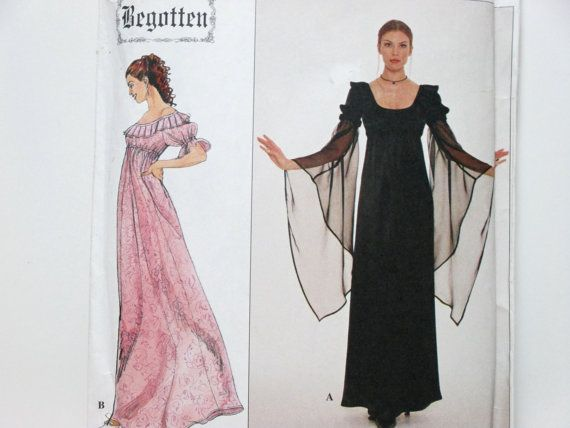 Empire Waist and Flowing Sleeves Gothic Medieval by AgnesLeRoux, $7.00