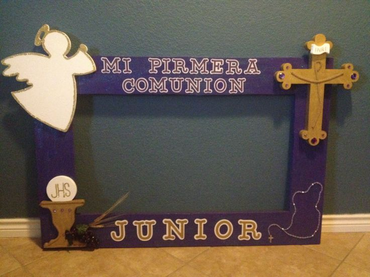 First communion styrofoam frame