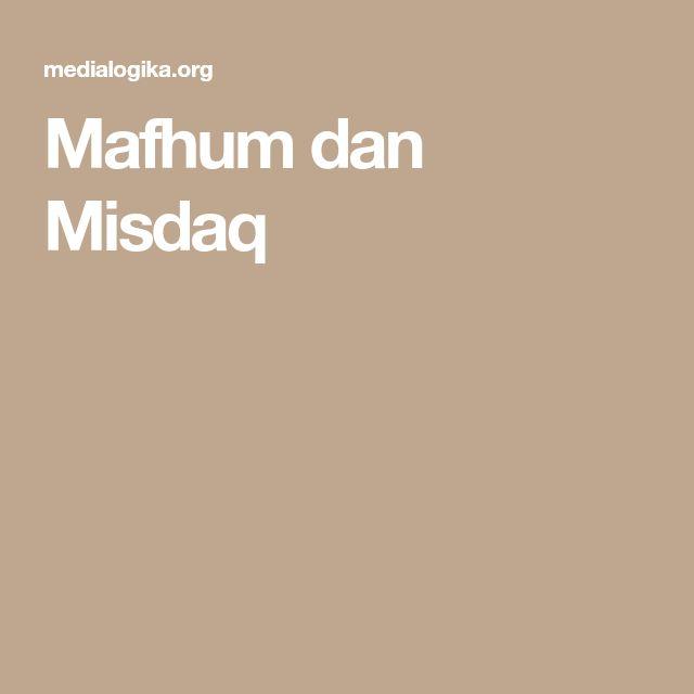 Mafhum dan Misdaq