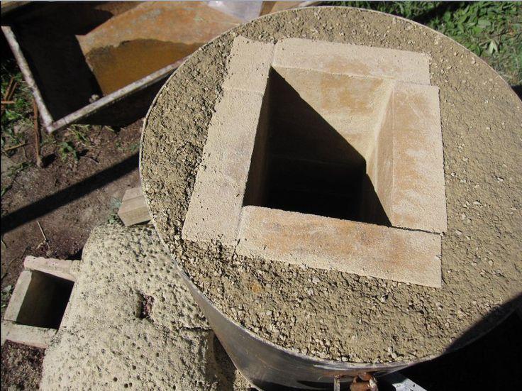 rocket+mass+heater | Woman built a rocket mass heater to heat the floor of her yurt, and ...