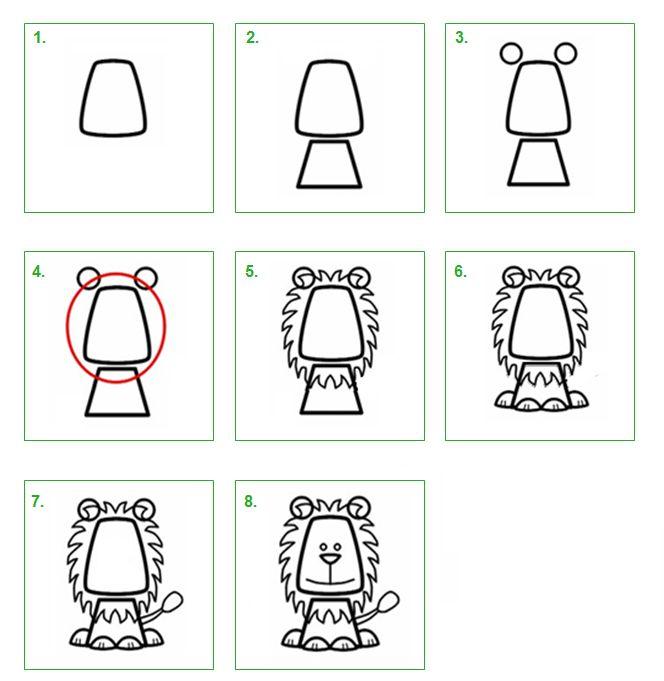 Schoolwiz - Hoe teken je een leeuw