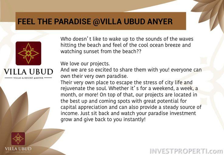 Villa Ubud Anyer brochure