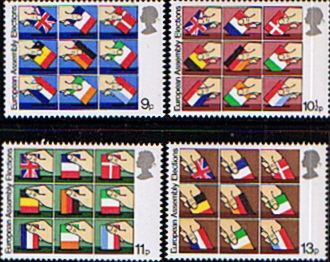 Great Britain 1979 Elections to European Assembly Set Fine Mint SG 1083/5 Scott 859/62 Other British and Commonwealth Stamps HERE