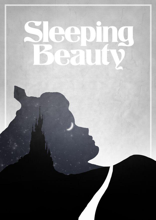 Sleeping BeautySleeping Beauty, Sleep Beautiful, Disney Film, Alternative Disney, Graphics Design, Disney Movie Posters, Disney Posters, Film Posters, Minimalist Poster