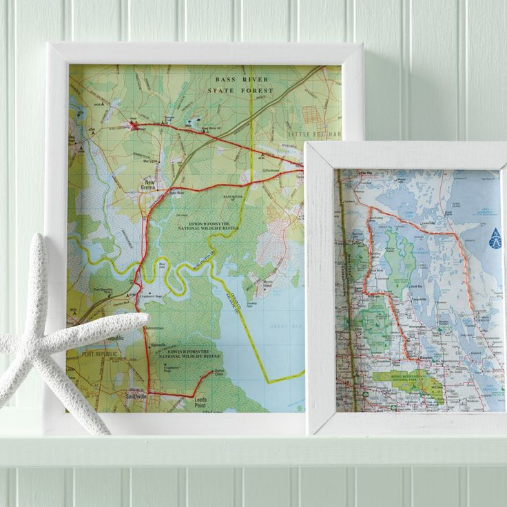 Take a (road) trip down memory lane with this instant art. Hand-stitch the route you took on a vacation, and frame it. You'll have a gallery of getaways and a reminder to look back fondly on family adventures -- including that time the car broke down.