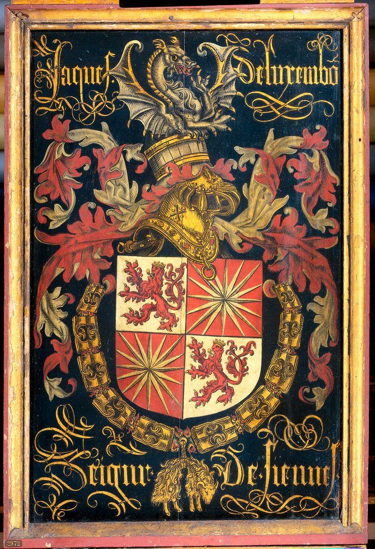 Wapenbord van Jacob van Luxemburg, heer van Fiennes, in zijn hoedanigheid van ridder in de orde van het Gulden Vlies