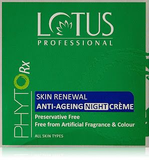 Lotus Professional Phyto Rx Skin Renewal Anti Ageing Night Cream 50g just for Rs. 299.0 on Amazon.in