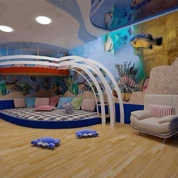 Fish Tank Room Cool kids rooms, Cool loft beds, Kid room