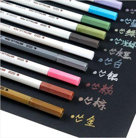 Дешевое 10 шт./лот акварель мел Pen акварель ручки для скрапбукинга фотоальбом маркер гелевая ручка канцелярские, Купить Качество Фломастеры для рисования непосредственно из китайских фирмах-поставщиках:       1 лот = одна коробка = 10 шт. (различных цветов)                Материал: пластик                Чернила: 10 разли