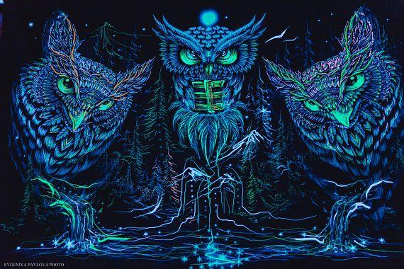 Psychedelic Blacklight Art Nature UV Fluorescent Glow ...