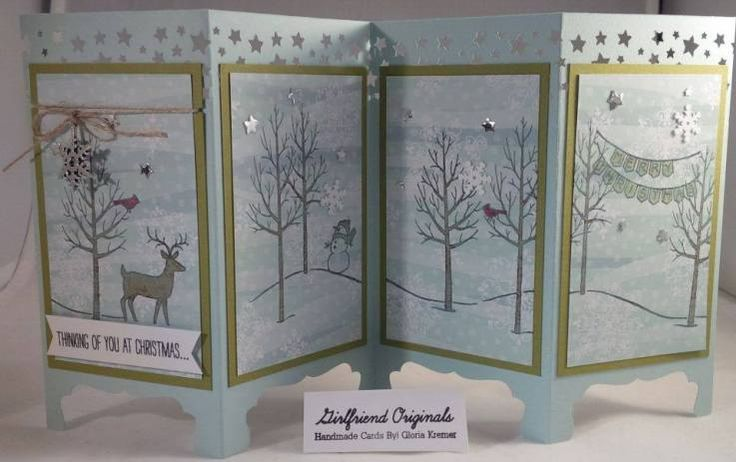 White Christmas Screen Divider Card