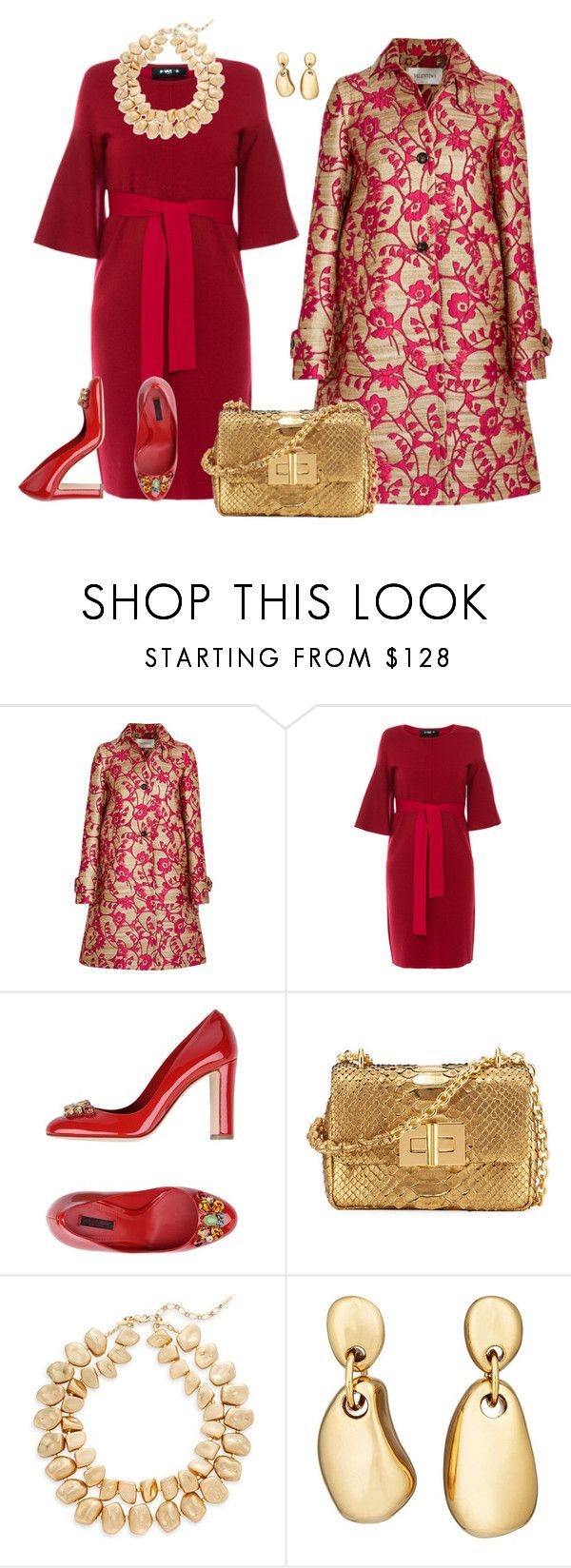 """P. G. #56"" by patricia-gonzalez-1 ❤ liked on Polyvore featuring Valentino, Paule Ka, Dolce&Gabbana, Tom Ford, Saks Fifth Avenue and Agmes"