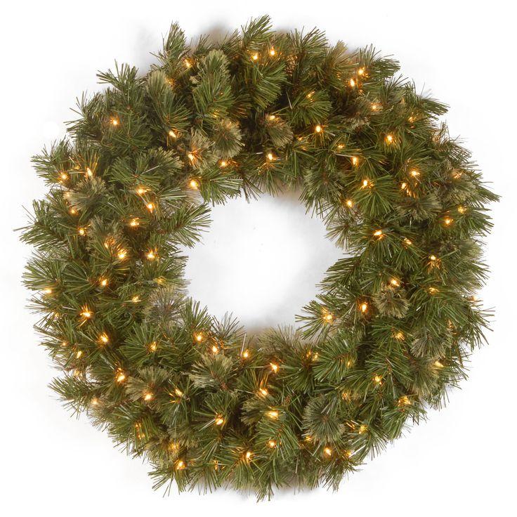 Wispy Willow Pre-Lit Wreath