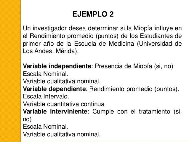 EJEMPLO 2 Un investigador desea determinar si la Miopía influye en el Rendimiento promedio (puntos) de los Estudiantes de ...
