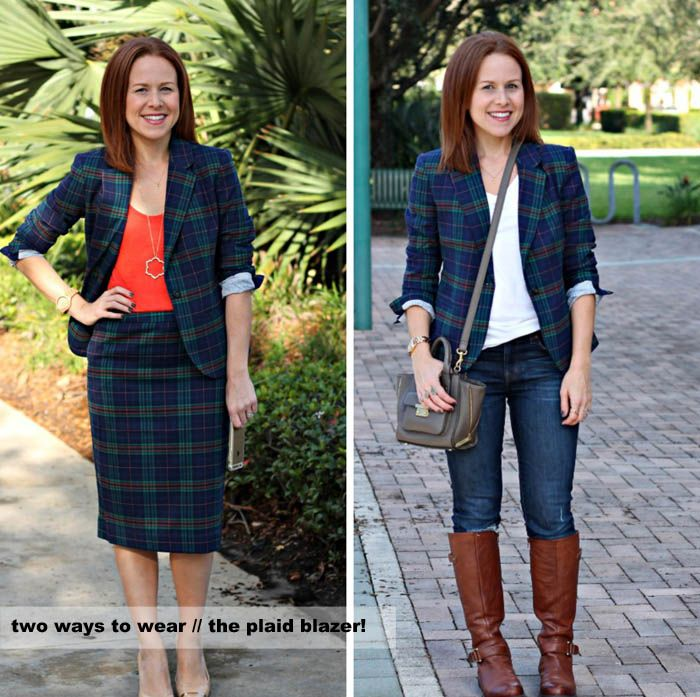 two ways to wear: plaid blazer