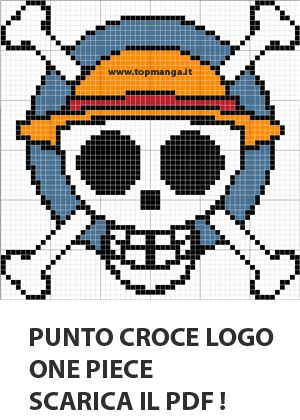 schema punto croce logo one piece