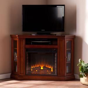 Southern Enterprises Carter 48 In. Convertible Media Electric Fireplace In  Brown Mahogany