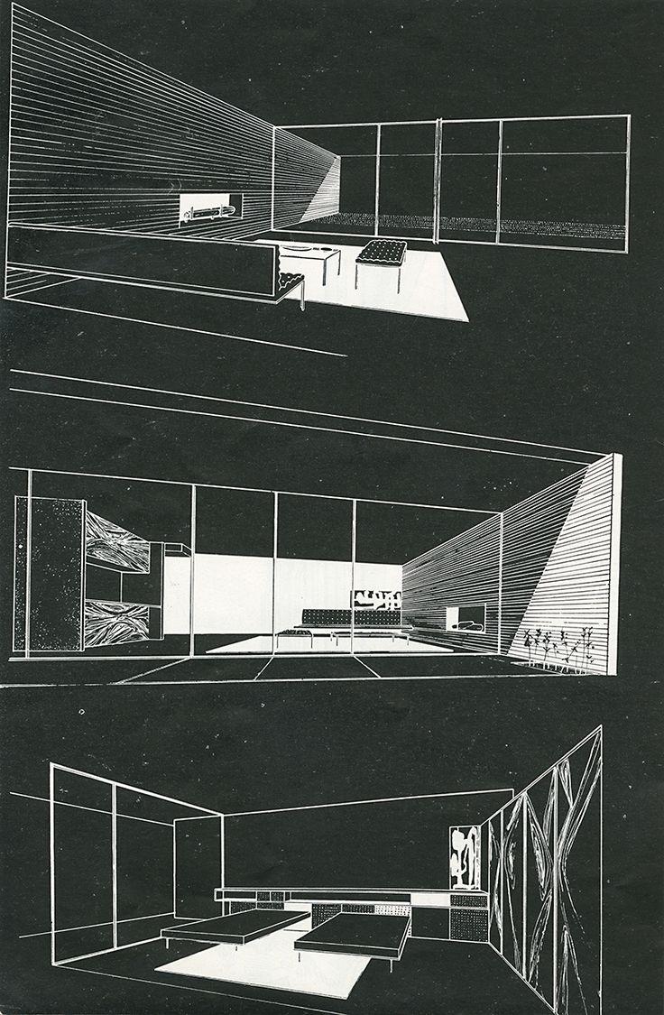 darquitectura:  (vía Craig Ellwood. Arts and Architecture. Sep 1950: 34 | RNDRD)