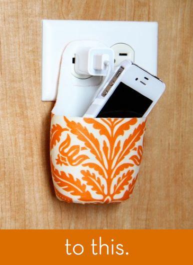 Een lege shampoofles o.i.d verandert in een telefoonhouder. engels: GENIUS: turn an empty lotion bottle into a gadget charging station!