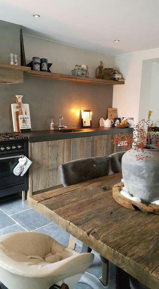 25 beste idee n over franse keukeninrichting op pinterest frans land decoreren - Keukenmeubelen rustiek ...